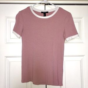 Light Pink, Short Sleeve Shirt with White Lining
